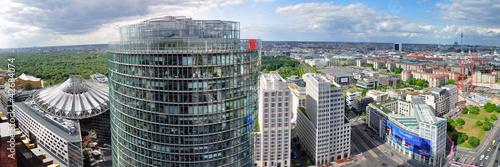 Foto Spatwand Berlijn Berlin, Potsdamer Platz von oben