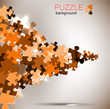 Abstract background made from puzzle pieces
