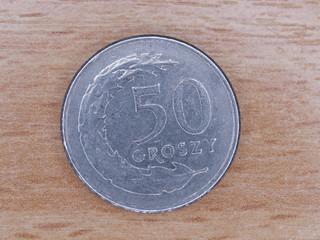 Polish currency : 50 groszy