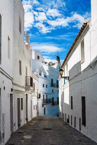 Street of old Spanish town.