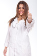 female doctor making ok sign