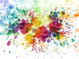 raster version of Abstract colorful splash background