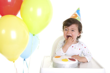 Baby crying at party