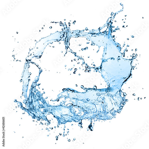 Leinwandbild Motiv Water splash isolated on white background