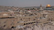 Jerusalem panoramic view of Wailing Wall tilt shift lens