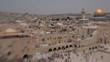 Jerusalem panoramic view of Wailing Wall tilt shift lens