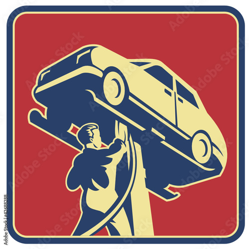 Mechanic Technician Car Repair Retro