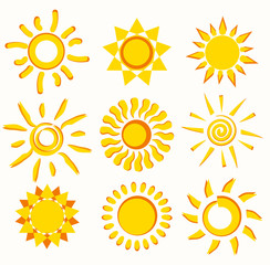 sun collection of symbols