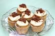 vanille-cupcakes mit schokolade