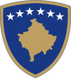 Kosovo Wappen poster