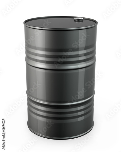 Single black barrel