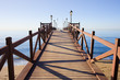 Leinwanddruck Bild - Pier on Costa del Sol in Marbella