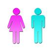 Homme bleu femme rose