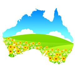 オーストラリア、風景 、地図