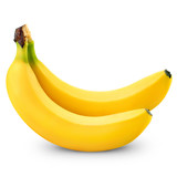 Fototapety Two bananas isolated on white background