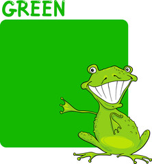 Color Green and Frog Cartoon