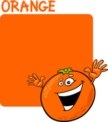 Color Orange and Orange Fruit Cartoon