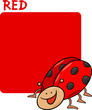 Color Red and Ladybug Cartoon