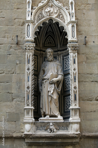 Florence - Orsanmichele. Saint Mark 1411-1413 by Donatello Poster