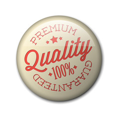 Vector retro premium quality badge