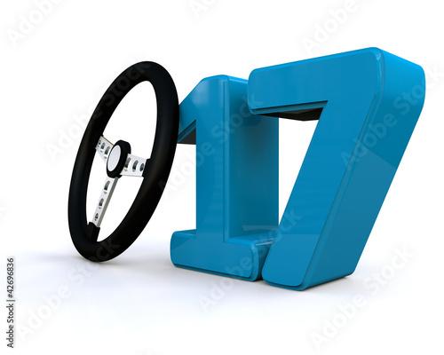 f hrerschein mit 17 von spencer lizenzfreies foto 42696836 auf. Black Bedroom Furniture Sets. Home Design Ideas