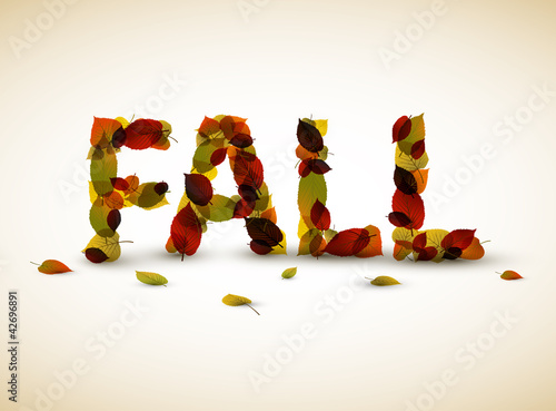 Vector fall lettering illustration