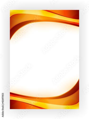 Business template with wave pattern in vibrant autumn colors