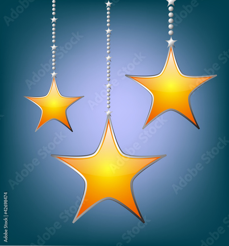 stars on a blue background