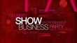 Show business red word tag cloud animation video