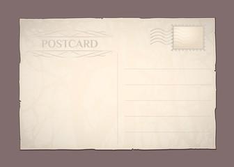 Retro postcard