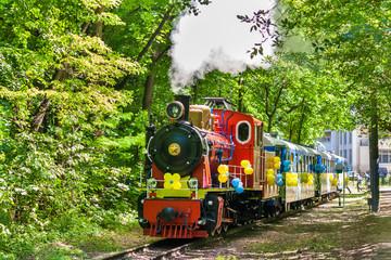Steam locomotive on Kiev Children's Railway, Ukraine