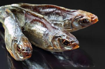 Dried fish closeup