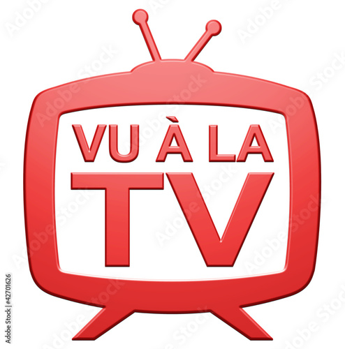 "canvas print picture Logo ""Vu à la TV"""
