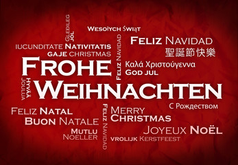 Frohe weihnachten tag-cloud