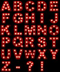 Glowing Alphabet