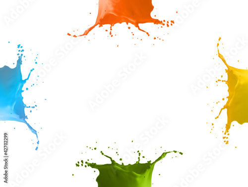 4 colors splash