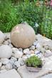Steinkugel als Gartenbrunnen
