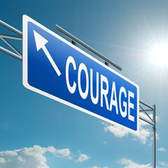 Courage concept.