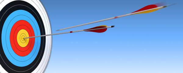tir à l'arc, atteindre sa cible ou ses objectifs