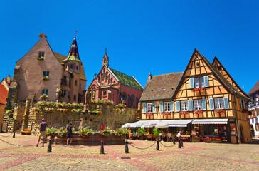 Village d'Eguisheim ,Alsace (Fr).