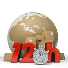 World delivery in twelve hours