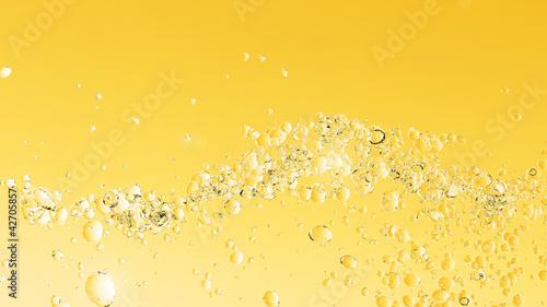 canvas print picture Goldene Blasen in Gelb
