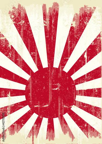 Japan grunge flag
