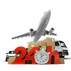 Air transportation overnight