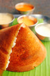 Masala Dosa - Closeup macro photo one of the most popular south
