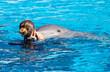 delfino con istruttrice