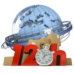 Worldwide delivery in twelve hours