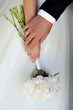 blooming, bridal, detail, flowers, hands, paeonia, wedding