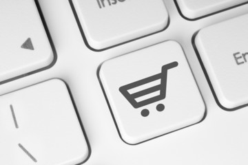 Shopping cart icon on keyboard key