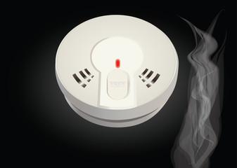 détecteur de fumée fond noir